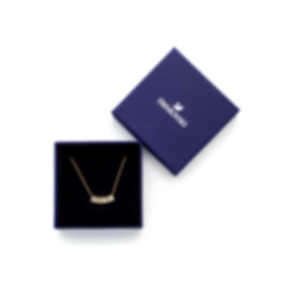 Swarovski Pleasant Gold Tone Dark Multi Colored Crystal Necklace 5493366