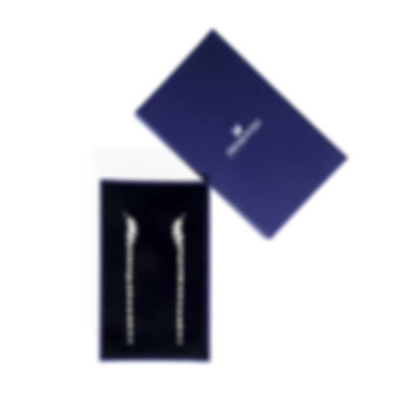 Swarovski Nice Rhodium And Crystal Earrings 5493406
