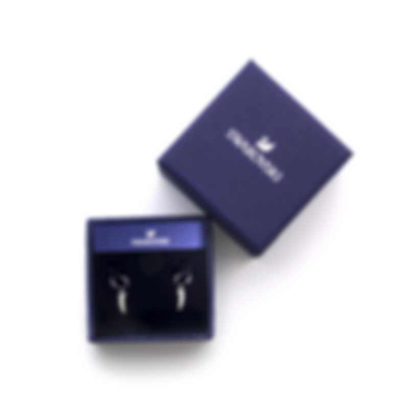 Swarovski Polar Bestiary Rhodium And Crystal Earrings 5500223