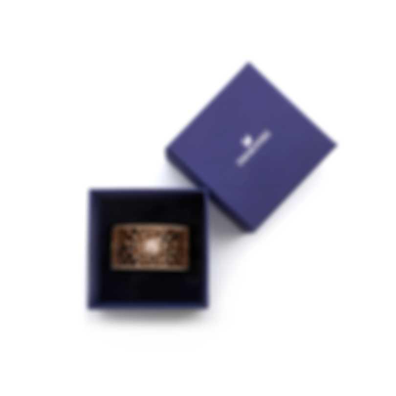 Swarovski Precisely Rose Gold Tone Czech White Crystal Bracelet 5503825