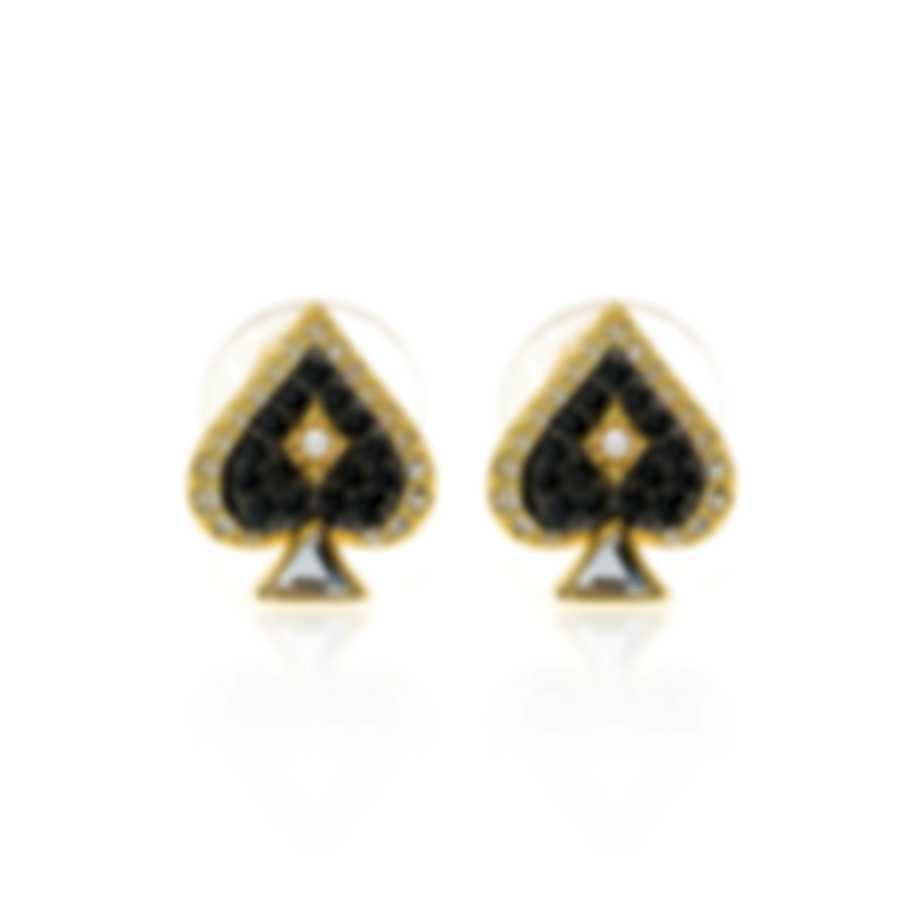 Swarovski Tarot Magic Gold Tone Dark Multi Colored Crystal Earrings 5510528