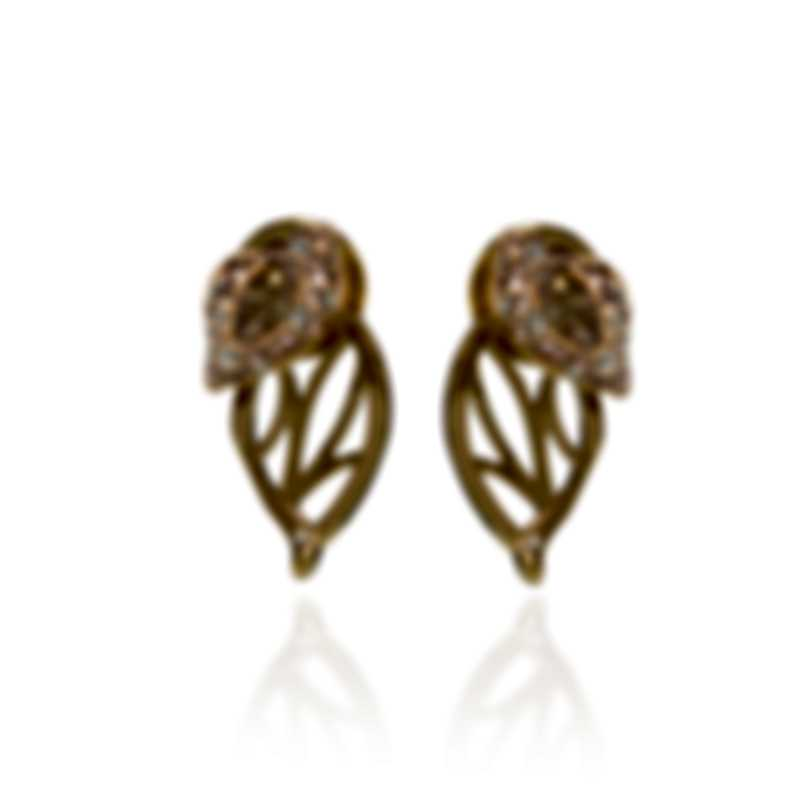 Swarovski Graceful Gold Tone And Crystal Earrings 5511815