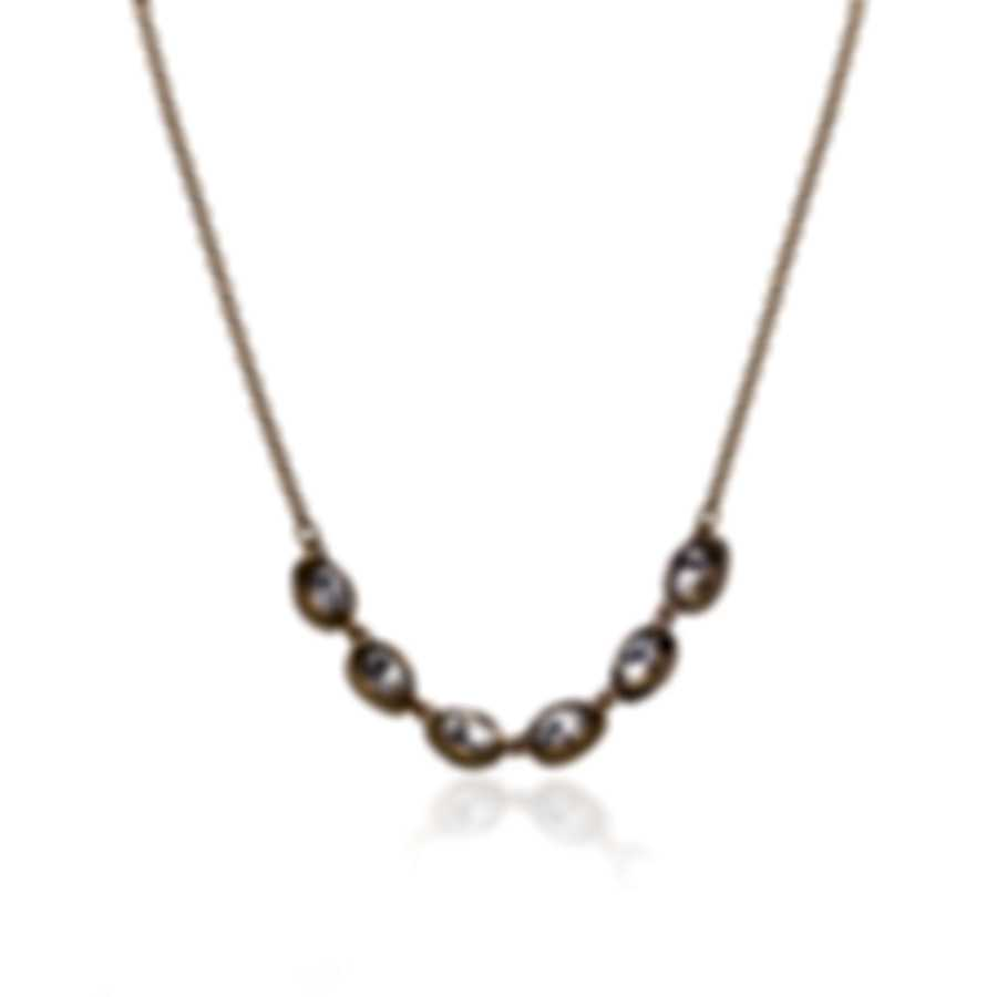 Swarovski Shell Gold Tone And Crystal Necklace 5512712
