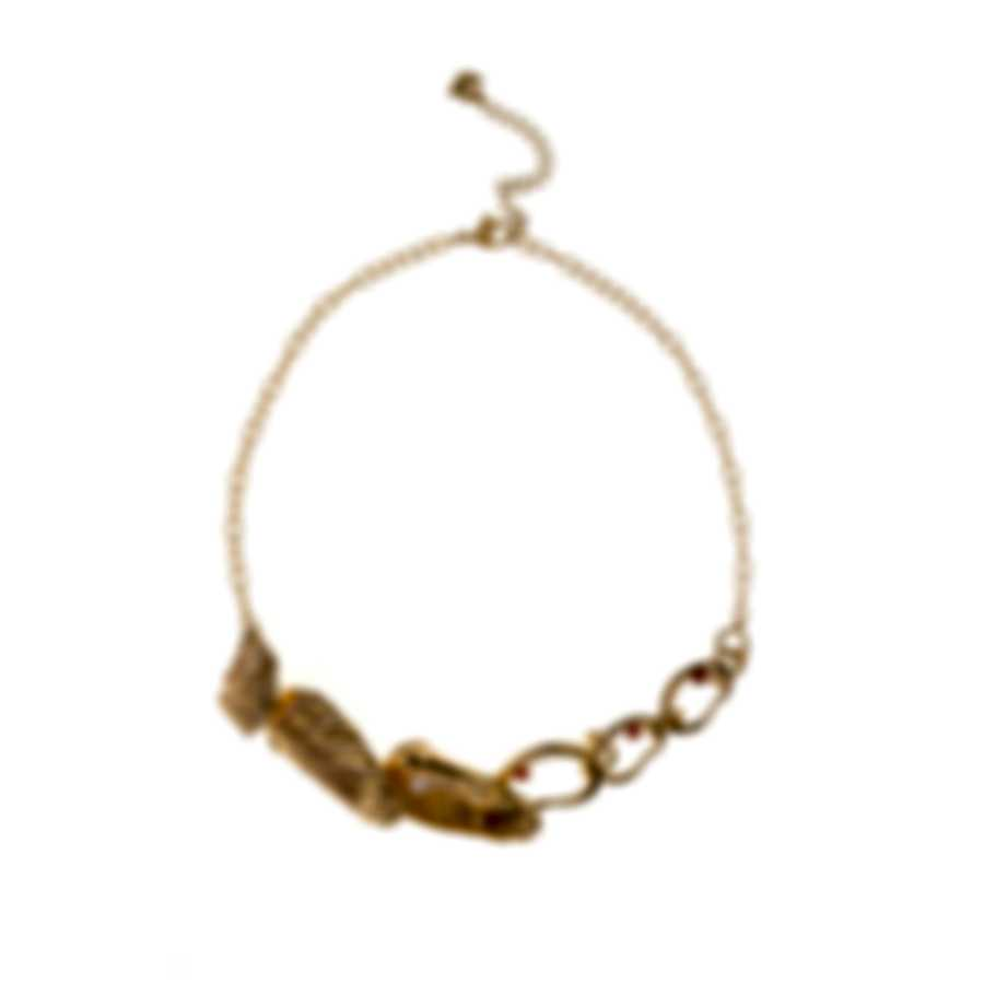 Swarovski Shell Gold Tone And Crystal Necklace 5520667