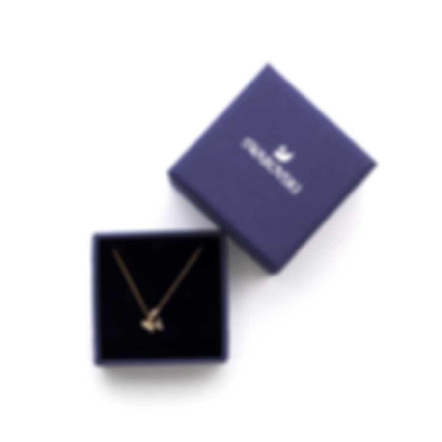 Swarovski Ocean Adventure Gold Tone And Crystal Necklace 5522853