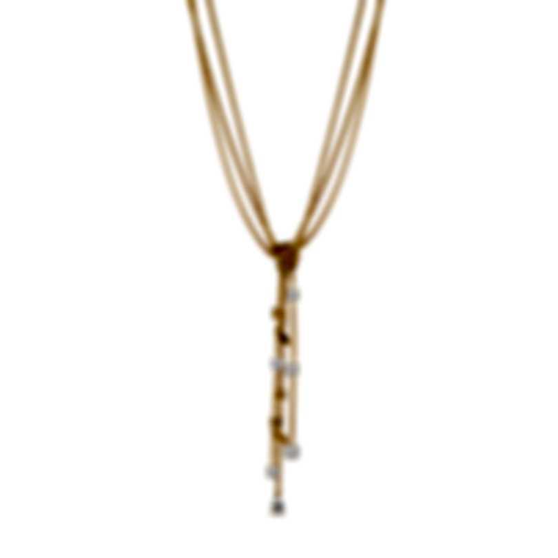 Swarovski Botanical Gold Tone And Czech White Crystal Necklace 5535779