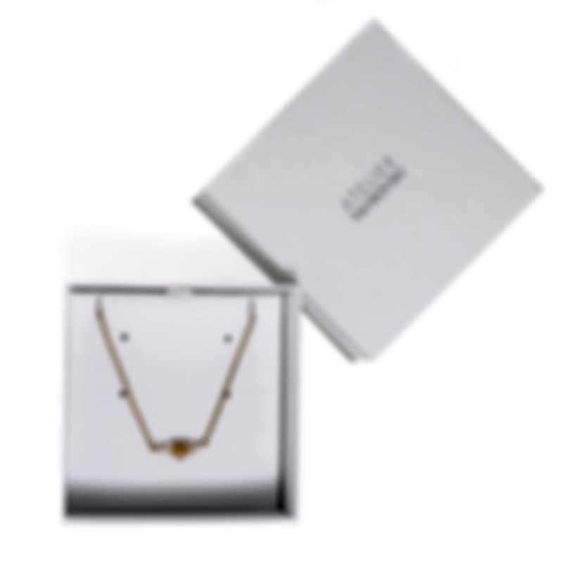 Swarovski Botanical Gold Tone And Czech White Crystal Necklace 5535781