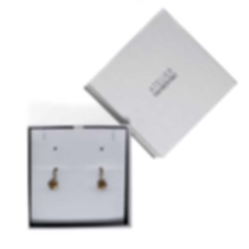 Swarovski Botanical Gold Tone And Czech White Crystal Earrings 5535796