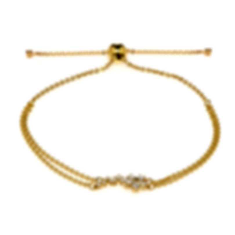 Swarovski Botanical Gold Tone And Czech White Crystal Bracelet 5535790