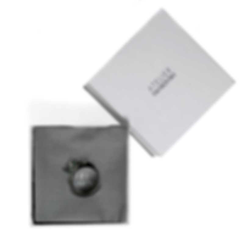 Swarovski Botanical Rhodium Plated And Emerald Crystal Ring Sz 7 5535825