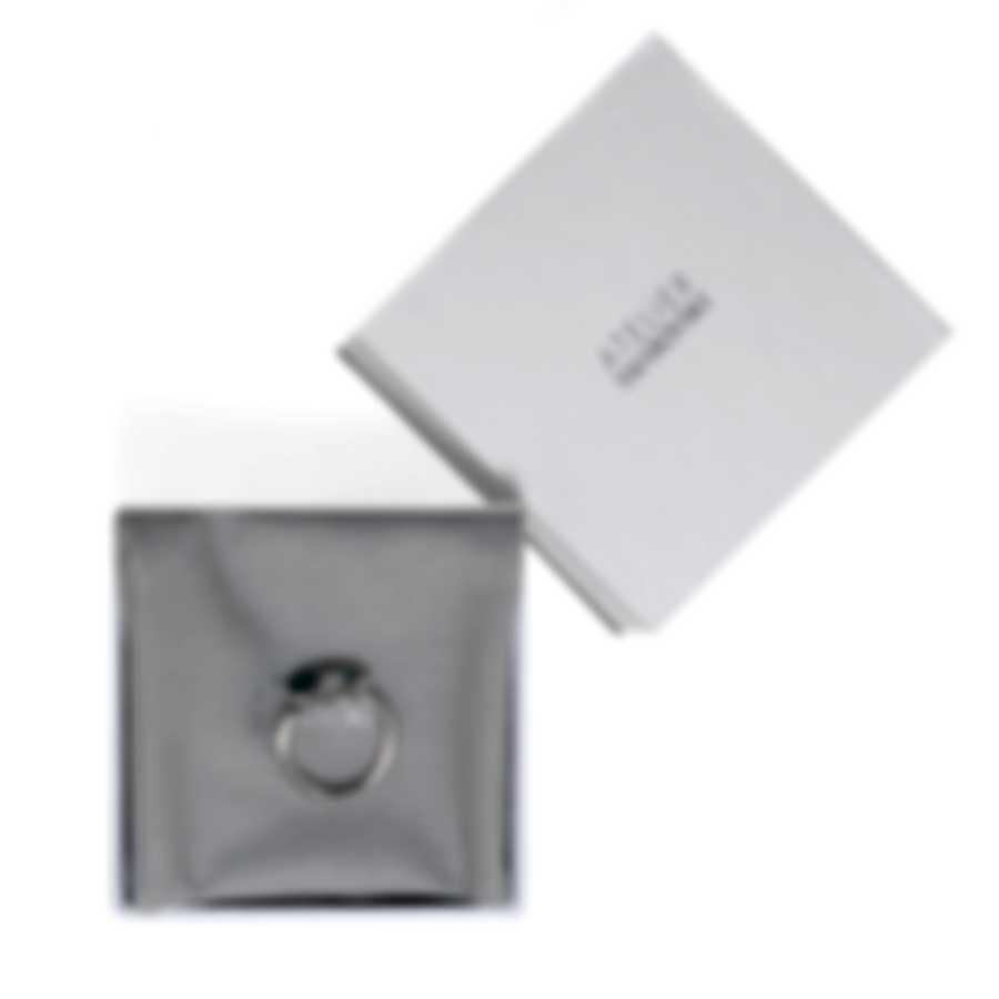 Swarovski Botanical Rhodium Plated And Emerald Crystal Ring Sz 5.75 5535843