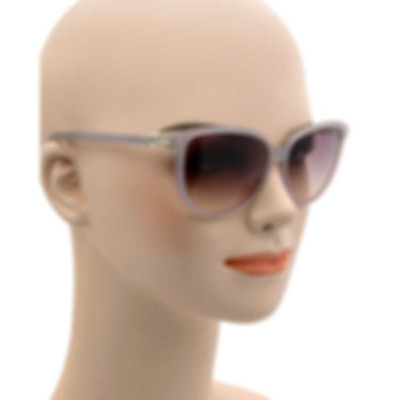 Swarovski Grey And Crystal & Violet Sunglasses SK0077-5620Y