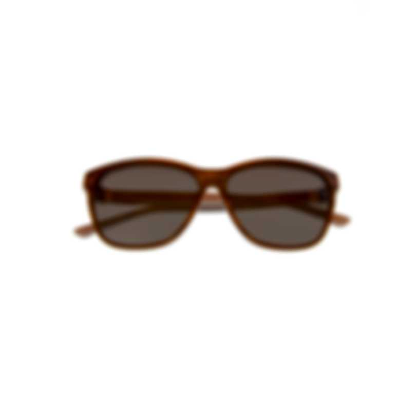 Swarovski Pink & Brown Wayfarer Style Sunglasses SK0121-5674F