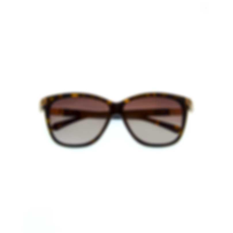Swarovski Dark Havana & Brown Wayfarer Style Sunglasses SK0137-5952F