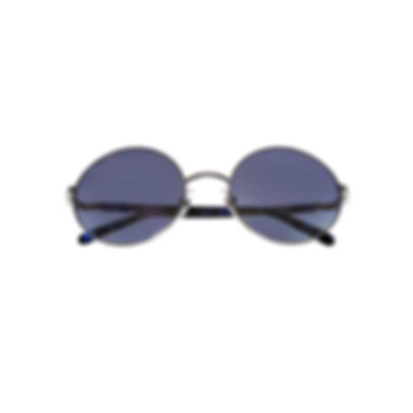 Swarovski Shiny Palladium & Blue Round Sunglasses SK0139-5416X
