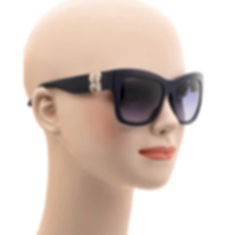 Swarovski Dark Green & Blue Sunglasses SK0141-5498W
