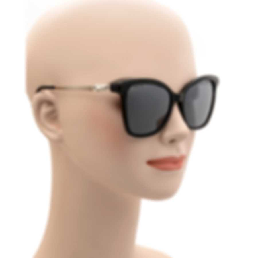 Swarovski Shiny Black & Smoke Wayfarer Style Sunglasses SK0154-H-5401C