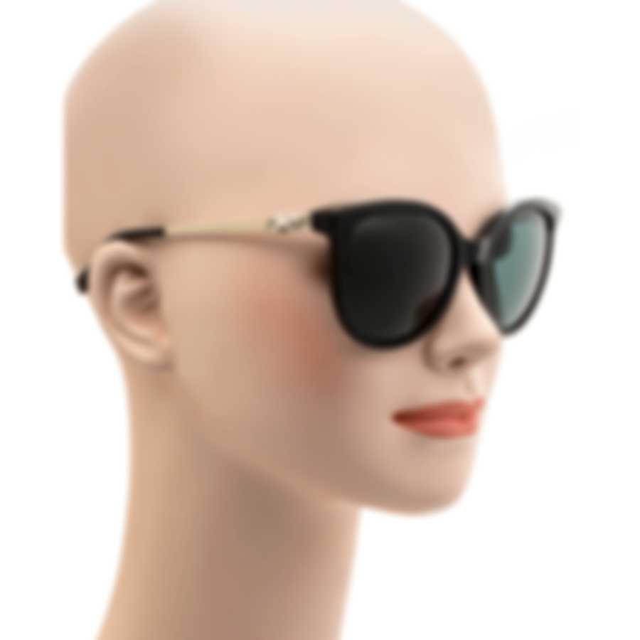 Swarovski Shiny Black & Smoke Sunglasses SK0155-5501C
