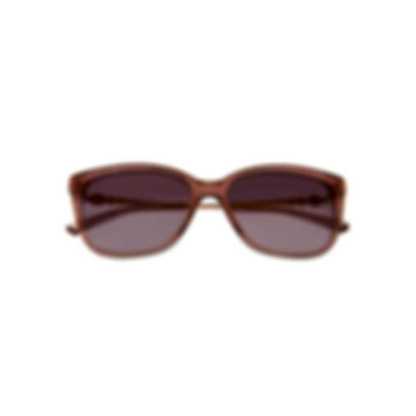 Swarovski Shiny Pink & Bordeaux Sunglasses SK0189-5572T