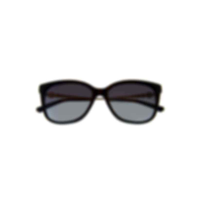 Swarovski Shiny Black & Smoke Wayfarer Style Sunglasses SK0189-5501B