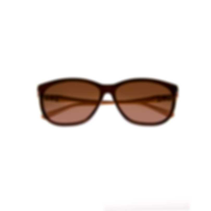 Swarovski Dark Brown & Brown Sunglasses SK0225-5650F