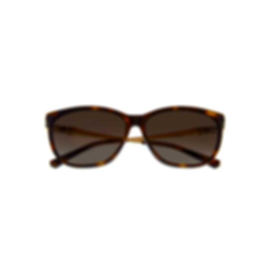 Swarovski Dark Havana & Gradient Brown Square Sunglasses SK0225-5652F
