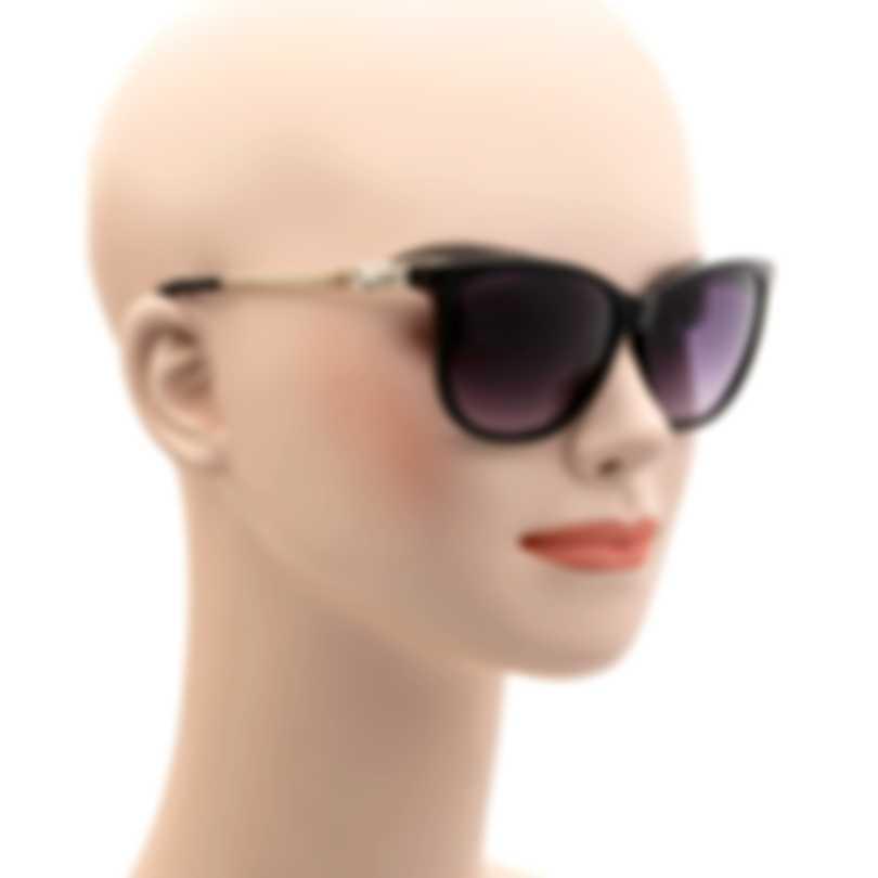 Swarovski Shiny Black & Smoke Sunglasses SK0225-5601B