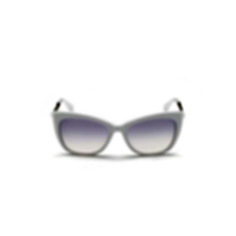 Swarovski White & Gradient Violet Butterfly Sunglasses SK0262-5521Z