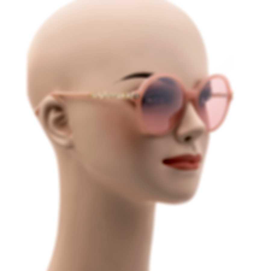 Swarovski Shiny Pink & Bordeaux Round Sunglasses SK0264-5372S