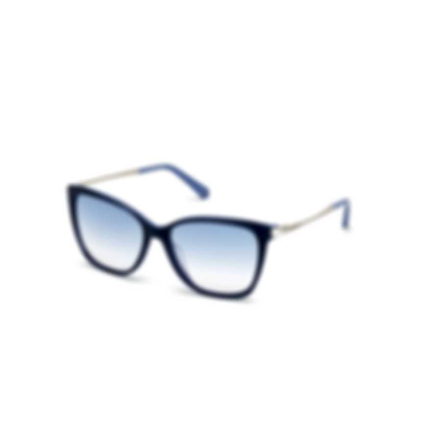 Swarovski Shiny Blue & Gradient Blue Cat Sunglasses SK0267-5590W