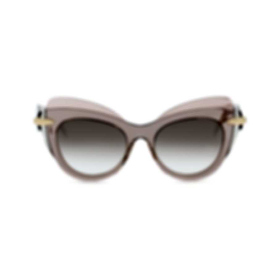 Pomellato Novelty Pink Pink Brown Women's Sunglasses PM0002S-30000051003