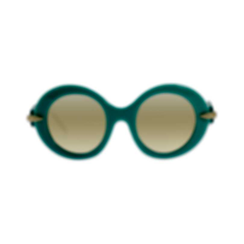 Pomellato Novelty Sunglasses Shiny Turquoise Women's Sunglasses PM0005S-30000343006