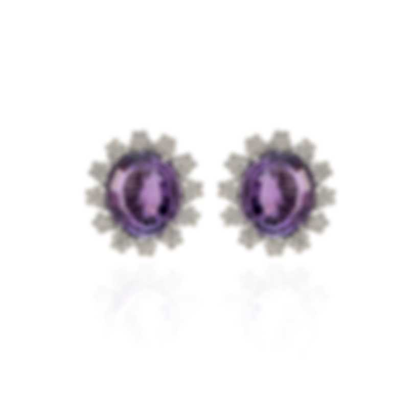 Pasquale Bruni Marilyn 18k White Gold Diamond 0.85ct And Amethyst Earrings 13479B