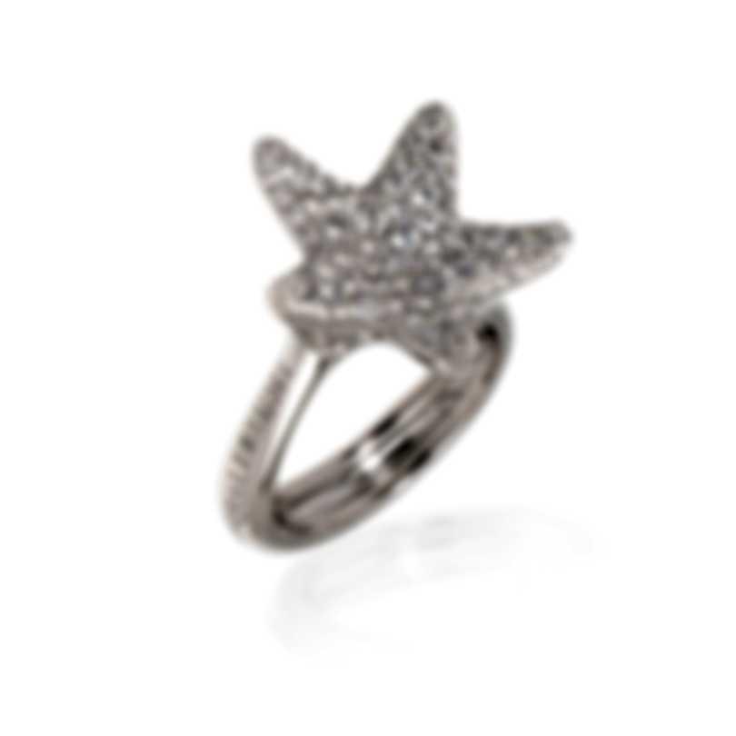 Pasquale Bruni Stella Nascente 18k White Gold Diamond 0.98ct Ring Sz 6.75 13556B-14