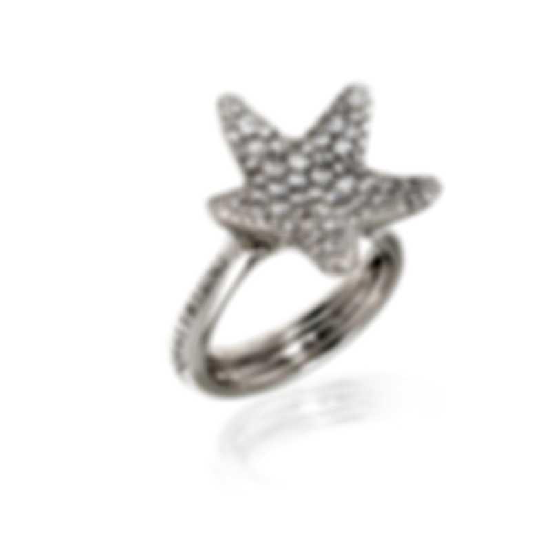 Pasquale Bruni Stella Nascente 18k White Gold Diamond 0.98ct Ring Sz 7 13556B-15