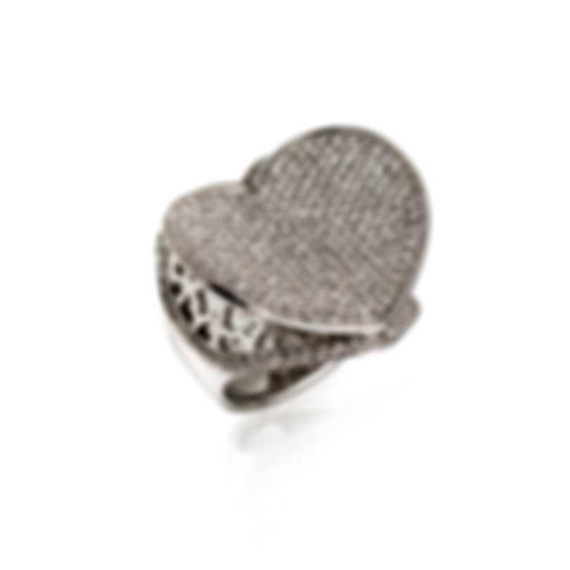 Pasquale Bruni Liberty 18k White Gold Diamond 2.13ct Ring Sz 7 13736B