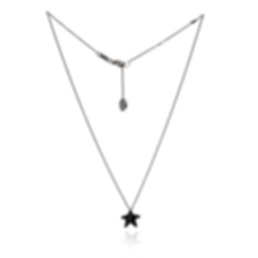Pasquale Bruni Orione 18k White Gold Diamond 0.29ct And Sapphire Necklace 13879BN