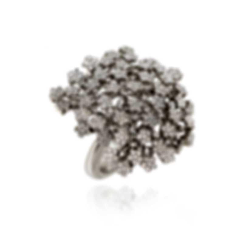 Pasquale Bruni Prato Fiorito 18k White Gold Diamond 1.64ct Ring Sz 6.25 13065B