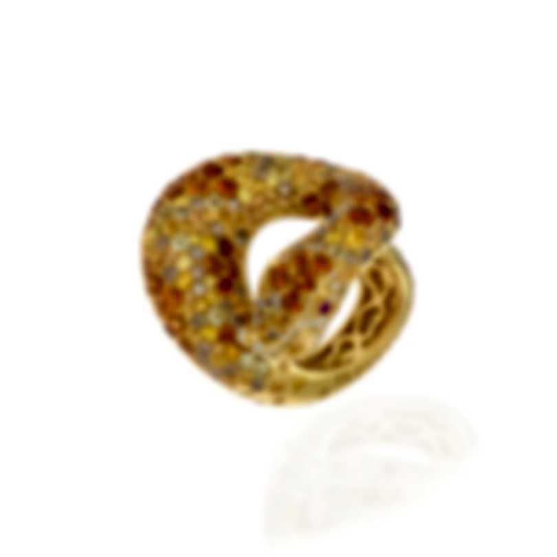 Pasquale Bruni Peccato 18k Yellow Gold Diamond 1.99ct & Sapphire Ring Sz 6.5 13103G-13