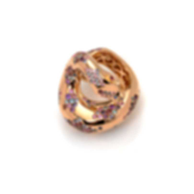 Pasquale Bruni Peccato 18k Rose Gold And Sapphire Ring Sz 5.5 13104R-11