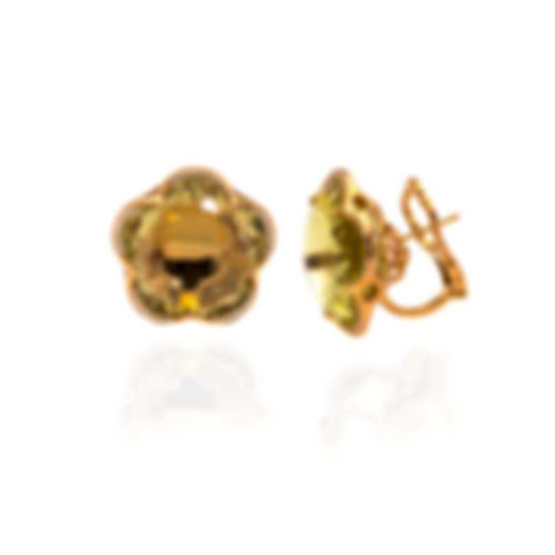 Pasquale Bruni Bon Ton 18k Rose Gold Diamond 0.34ct And Lemon Quartz Earrings 14947R