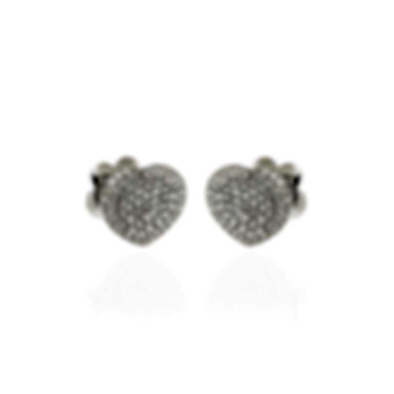 Pasquale Bruni In Love 18k White Gold Diamond 1.07ct Earrings 14998B
