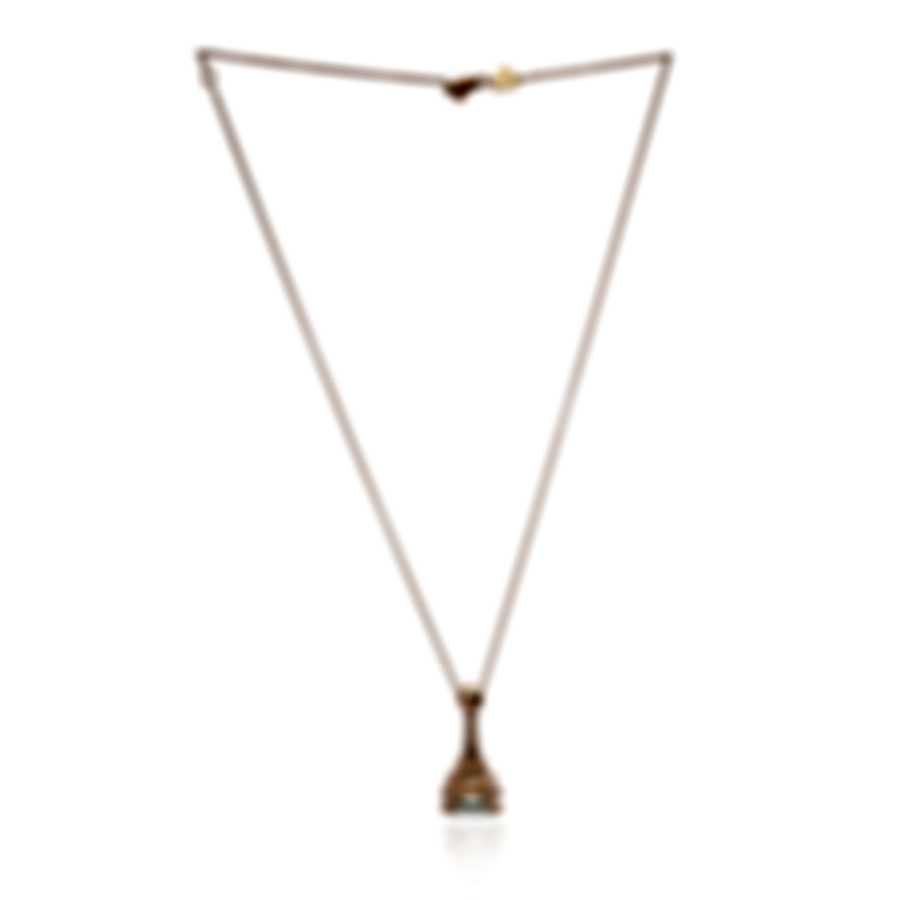 Pasquale Bruni Eiffel 18k Rose Gold Diamond 0.81ct And Green Quartz Necklace 14113R