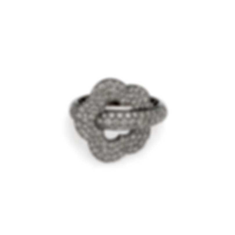 Pasquale Bruni Make Love 18k White Gold Diamond 1.19ct Ring Sz 6.75 15403B-13