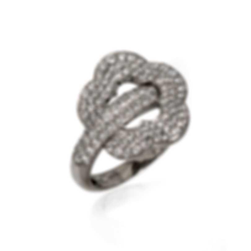 Pasquale Bruni Make Love 18k White Gold Diamond 1.22ct Ring Sz 6 15403B