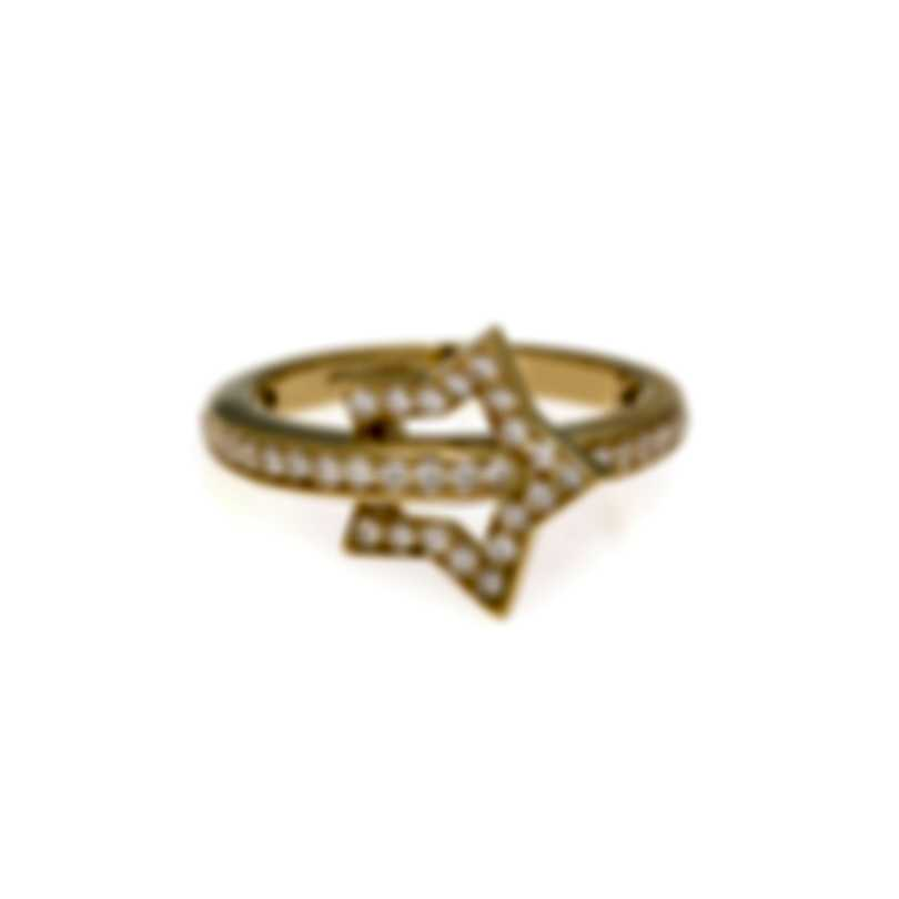 Pasquale Bruni Make Love 18k Yellow Gold Diamond(0.455ct Twd.)Ring Sz 7.25 15413G-15