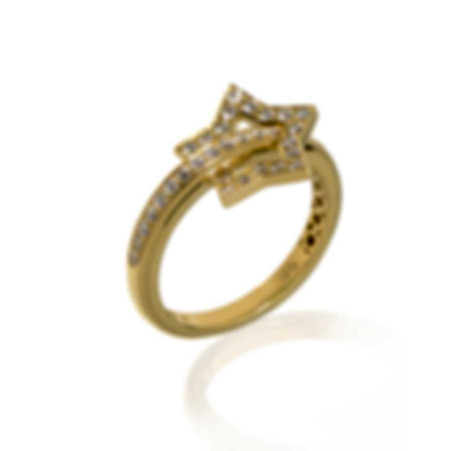 Pasquale Bruni Make Love 18k Yellow Gold Diamond 0.45ct Ring Sz 5.75 15413G-11