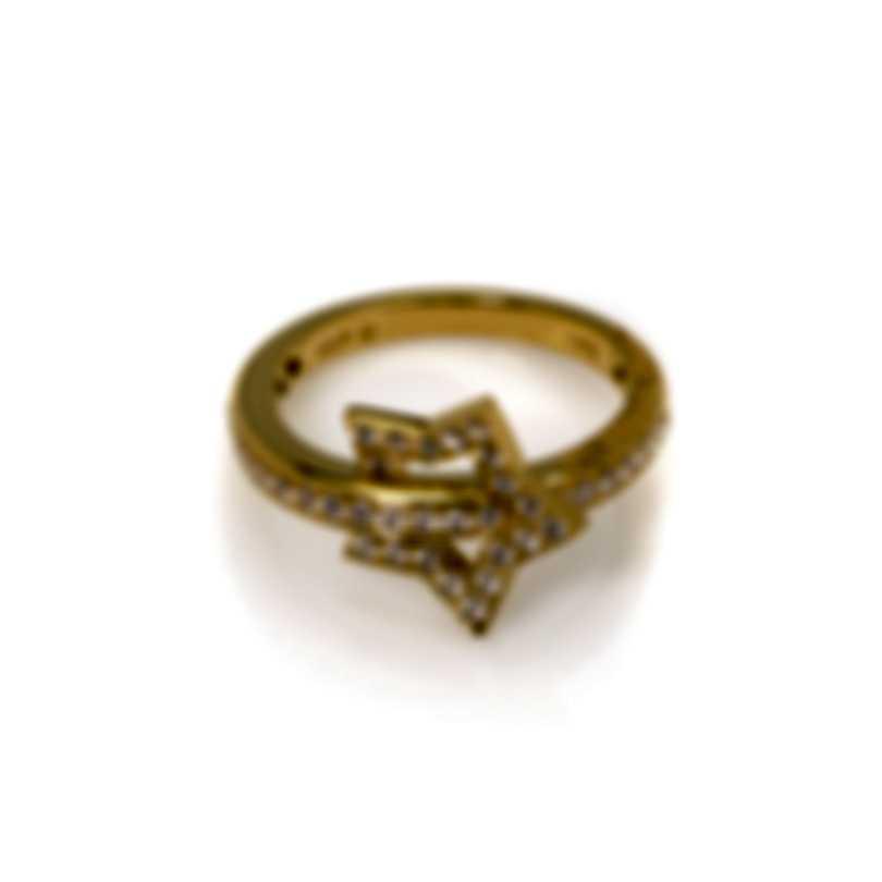 Pasquale Bruni Make Love 18k Yellow Gold Diamond 0.45ct Ring Sz 6.75 15413G-14