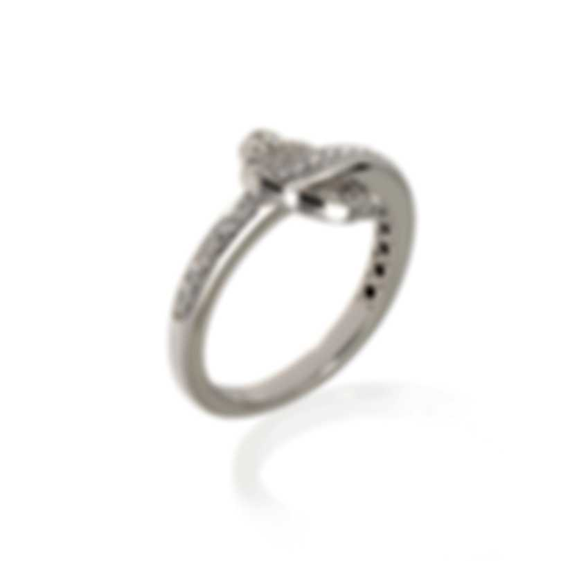 Pasquale Bruni Make Love 18k White Gold Diamond Ring Sz 6.75 15423B-15