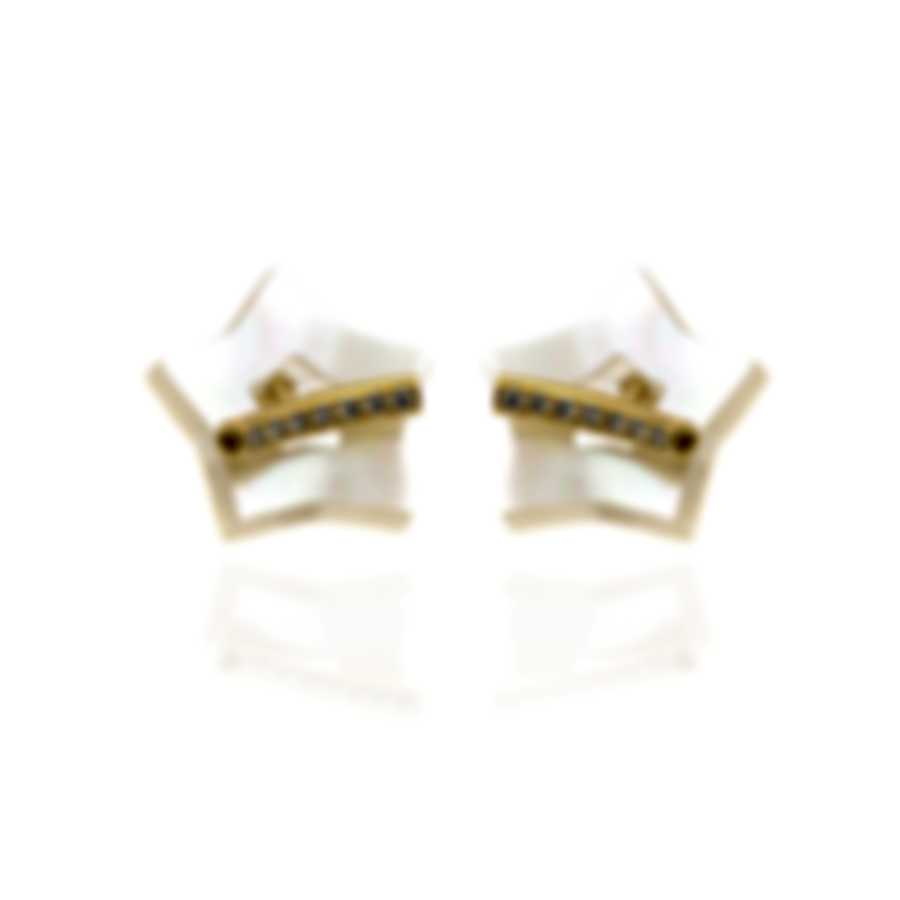 Pasquale Bruni Make Love 18k Gold Diamond 0.24ct Mother Of Pearl Earrings 15495G
